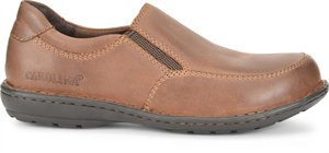 'Carolina' Women's BLVD Aluminum Toe ESD Slip On - Maseru Coffee Brown