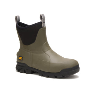 "'Caterpillar' P723954 - Unisex Stormers 6"" Soft Toe Rubber Boot - Olive / Black"