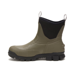 "'Caterpillar' Unisex 6"" Stormers Soft Toe Rubber Boot - Olive / Black"