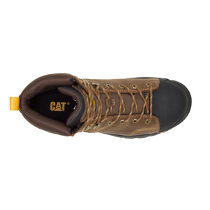 "'Caterpillar' Men's 6"" Wellspring WP, Met Guard, EH, Steel Toe - Brown / Black"