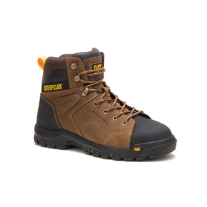 "'Caterpillar' P91115 - 6"" Wellspring WP, Met Guard, EH, Steel Toe - Brown / Black"