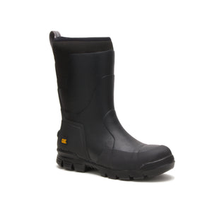 "'Caterpillar' P91146 - Unisex Stormers 11"" EH Steel Toe Rubber Boot - Black"