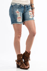 'Cruel Denim' Women's Rhyon Shorts - Lt. Stonewash