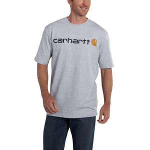 'Carhartt' Men's Heavyweight Logo T-Shirt - Heather Gray