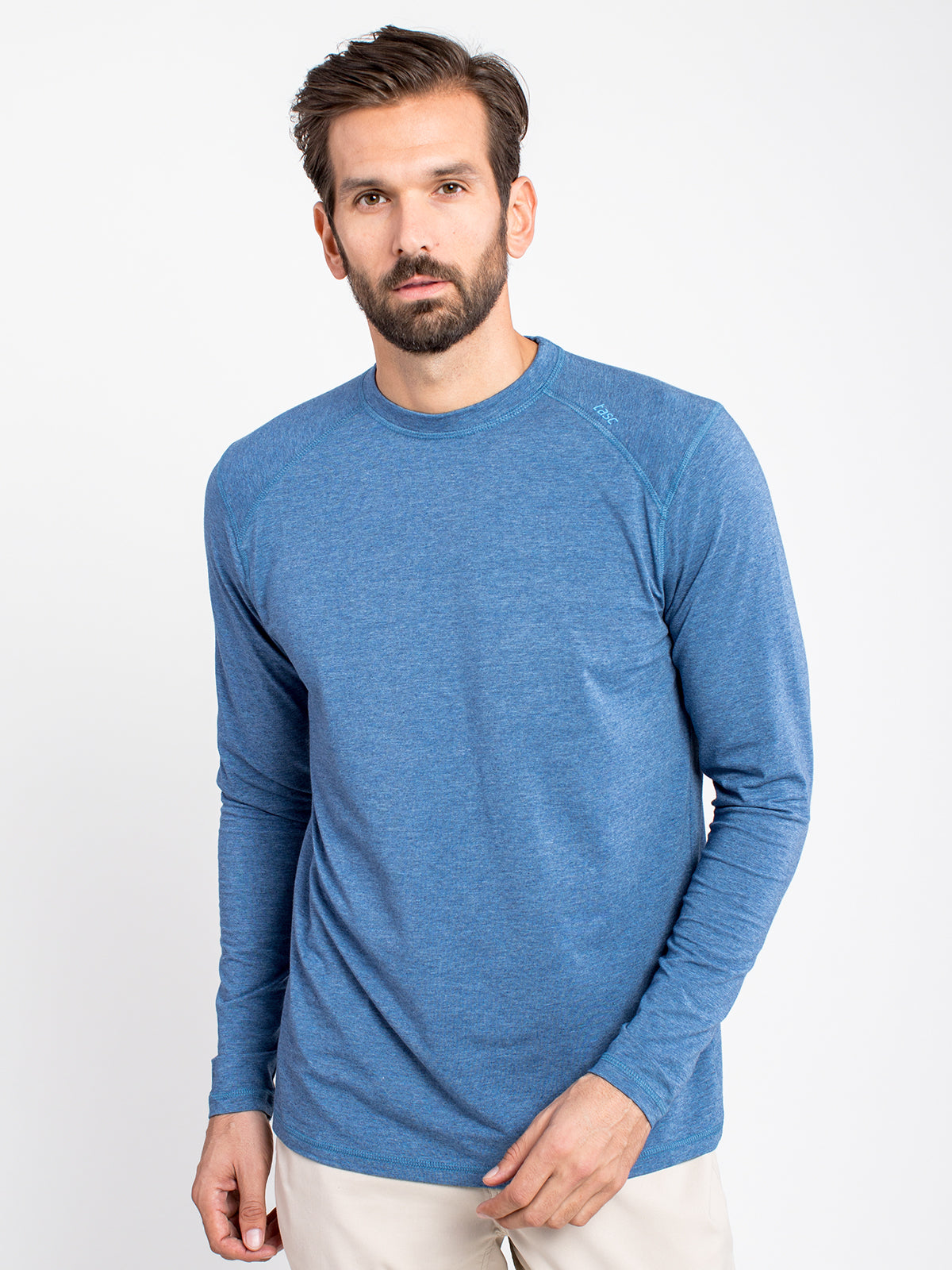'TASC' Men's Carrollton Bamboo Tee - Indigo Heather