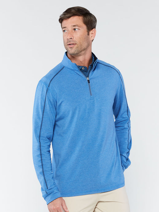 'TASC' Men's Carrollton 1/4 Zip Tee - Riverside Heather