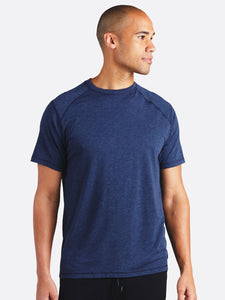 'TASC' Men's Carrollton Bamboo Tee - Classic Navy Heather