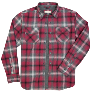 'Dakota Grizzly-Shayne' Men's Thermal Lined Snap Flannel - Flame
