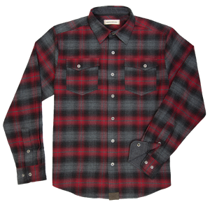 'Dakota Grizzly-Riley' D1020-113A - L/S Snap Front Flannel - Brick