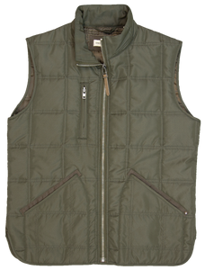 'Dakota Grizzly' Men's Journey Quilted Vest - Field