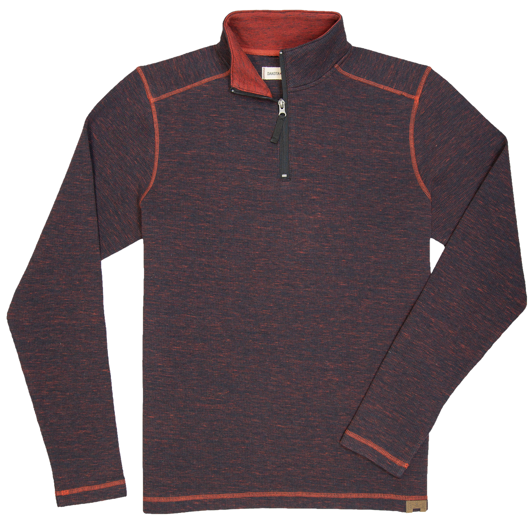 'Dakota Grizzly-Dermot' Men's 1/4 Zip Pullover - Charcoal