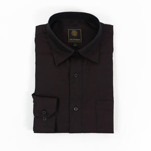 'F/X Fusion' Men's Micro Dot Tonal Button Down - Zinfandel