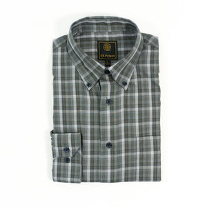 'F/X Fusion' Men's Multi Plaid Button Front - Olive / Grey