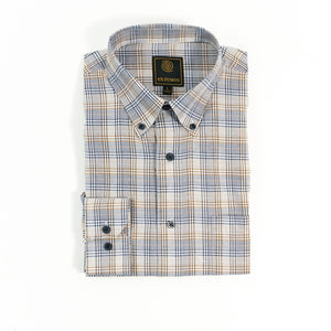 'F/X Fusion' Men's Overplaid Button Front - Brown Multi