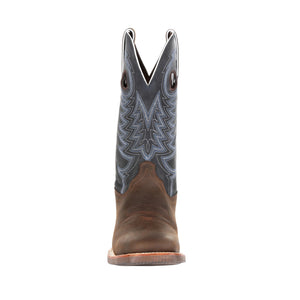"'Durango' Men's 12"" Rebel Pro™ Denim Blue Western Square Toe - Brown / Denim"