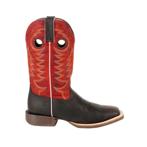 "'Durango' Men's 13"" Rebel Pro Western Square Toe - Chestnut / Crimson"