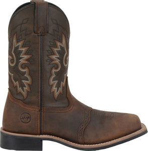 "'Double-H' Men's 11"" Francisco Wide Square Toe Roper - Brown"