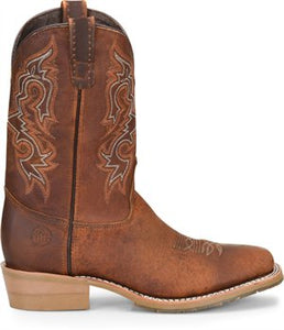"'Double H' Men's 11"" Monte Wide Square Toe Cowboy Boot - Tenby Coppertone Brown"