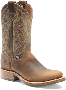 "'Double H' Men's 11"" Jaison Western U-Toe Roper - Brown"