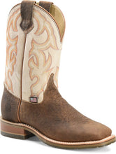 "'Double H' Men's 11"" Dallas Western Square Toe - Brown / White"