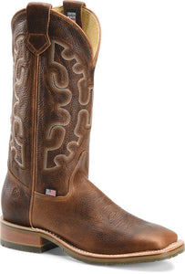 "'Double H' Men's 13"" Galveston Western Square Toe - Brown"