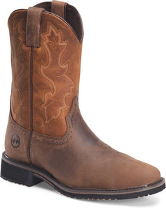 "'Double H' Men's 11"" Scottie EH Comp Toe Roper - Brown"