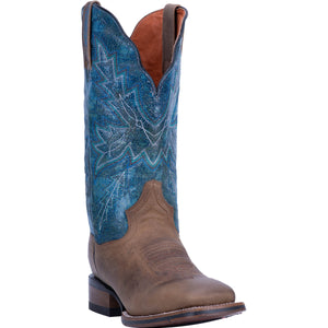 "'Dan Post' Women's 12"" Pasadena Western Square Toe - Sand / Blue"
