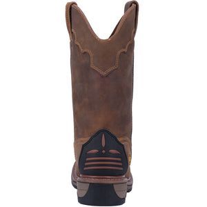 "'Dan Post' Men's 11"" Blayde Leather WP Western Work - Saddle Tan"