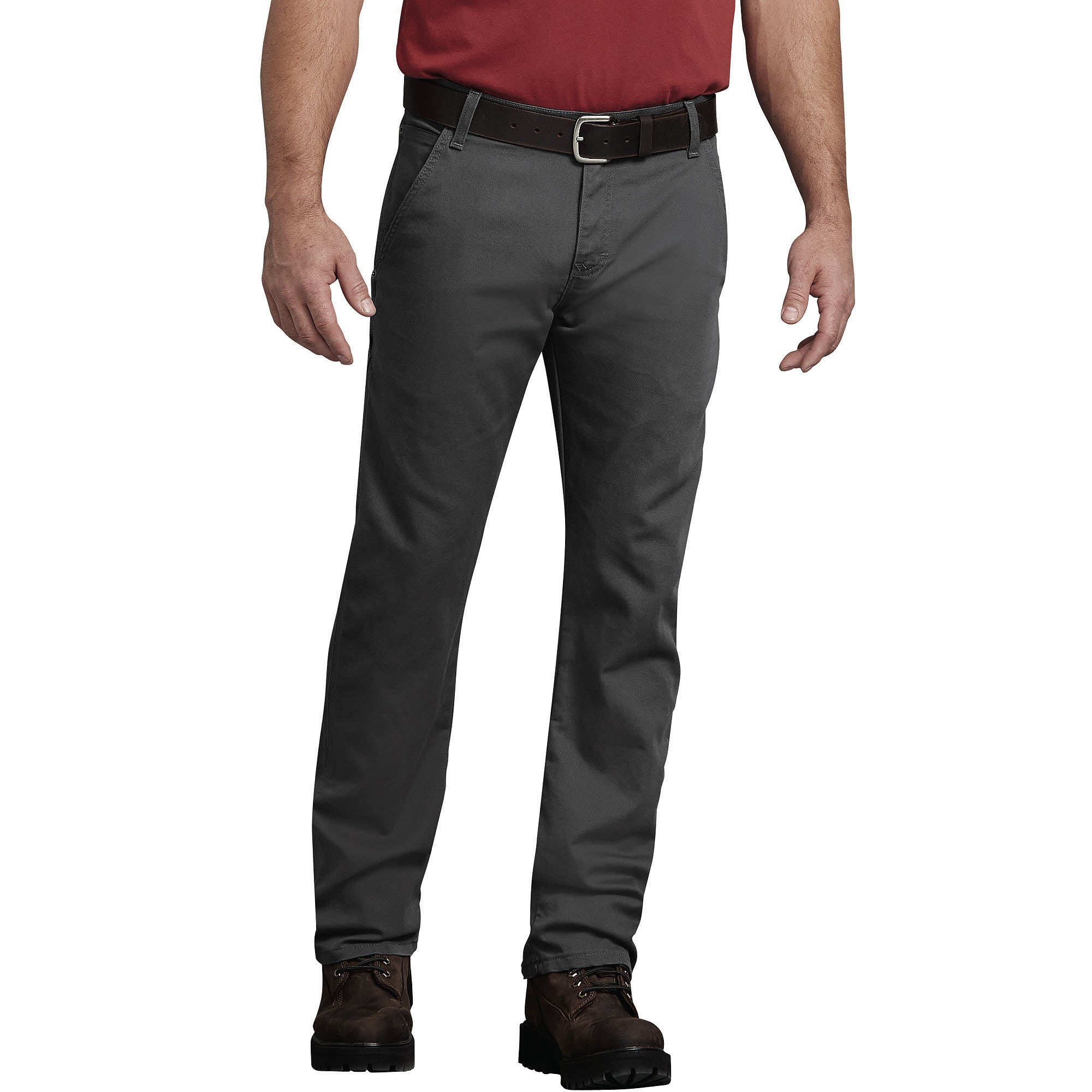'Dickies' Flex Regular Fit Straight Leg Tough Max Duck Carpenter Pants - Stonewashed Gray