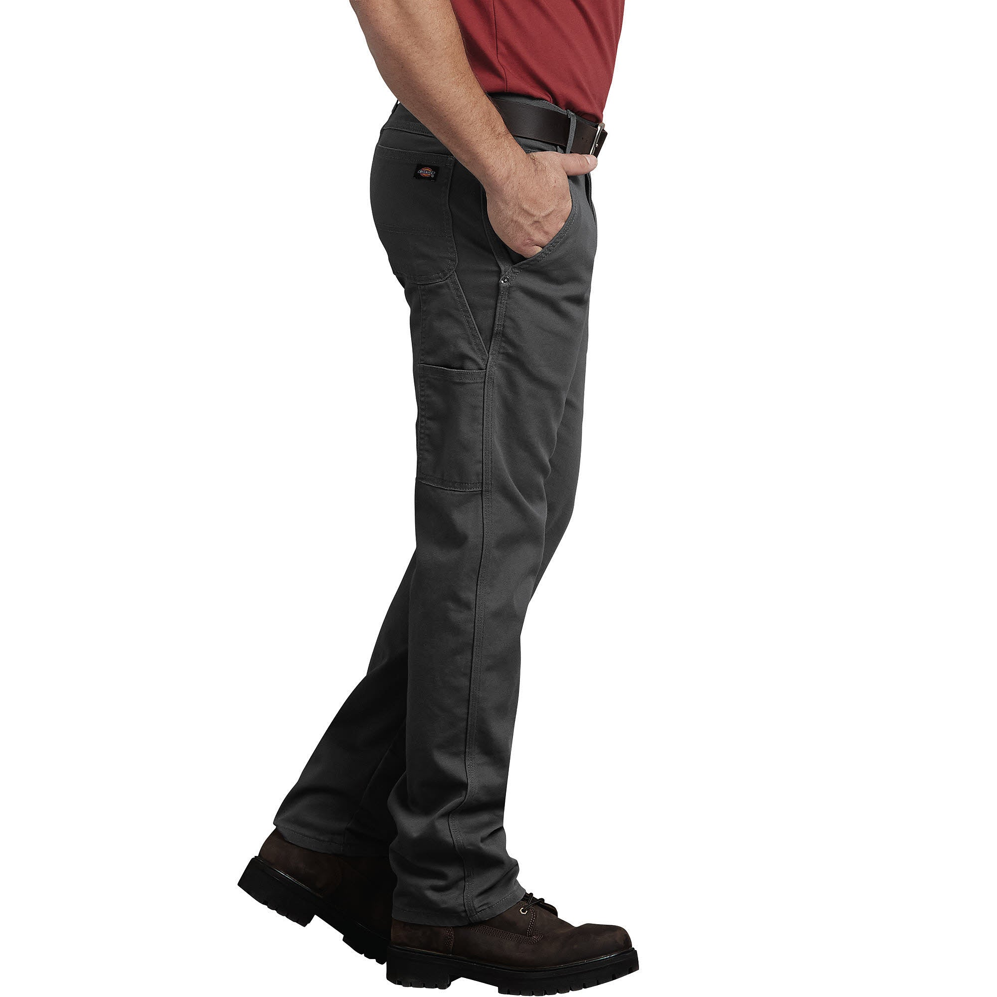 3fa14f9ad46 ... Flex Regular Fit Straight Leg Tough Max Duck Carpenter Pants -  Stonewashed Gray ...