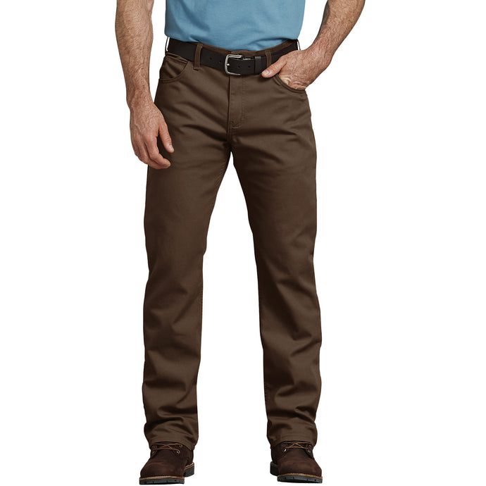 Flex Regular Fit Straight Leg Tough Max Duck 5 Pocket Pants - Stonewashed Timber Brown