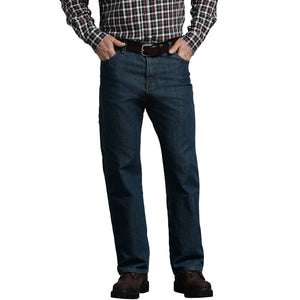 Flex Relaxed Fit Straight Leg 5 Pocket Carpenter Tough Max Denim Jeans - Heritage Tinted Khaki Blue
