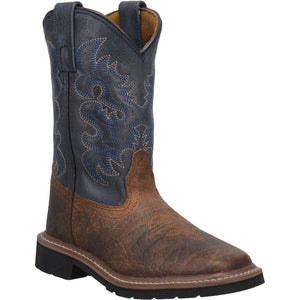 "'Dan Post' Kids' 8"" Brantley Western -  Brown / Blue"