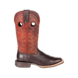 "'Durango' Women's 12"" Rebel Pro Western Square Toe - Chestnut / Crimson"