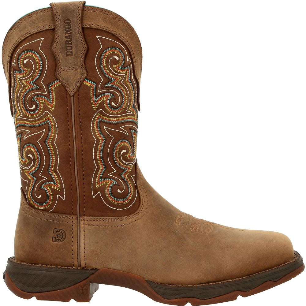 'Durango' Women's Lady Rebel Western EH Comp Toe - Dusty Brown