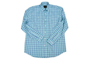 'F/X Fusion' Men's Traditional Fit Norman Plaid - Jade/Navy