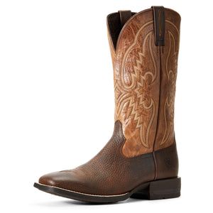 'Ariat' 10029691 - Men's Round Pen Western Boot - Copper / Tan