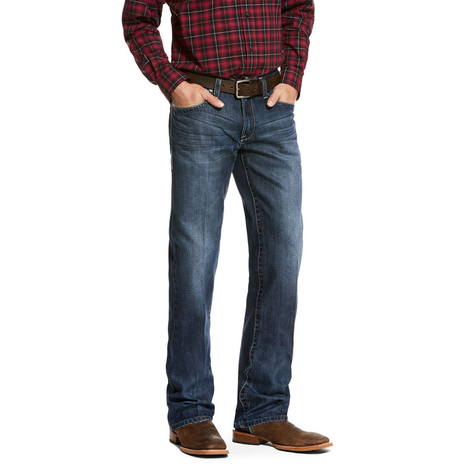 'Ariat' 10027724 - Men's M4 Swift Relaxed Fit - Medium StonewashBLUE