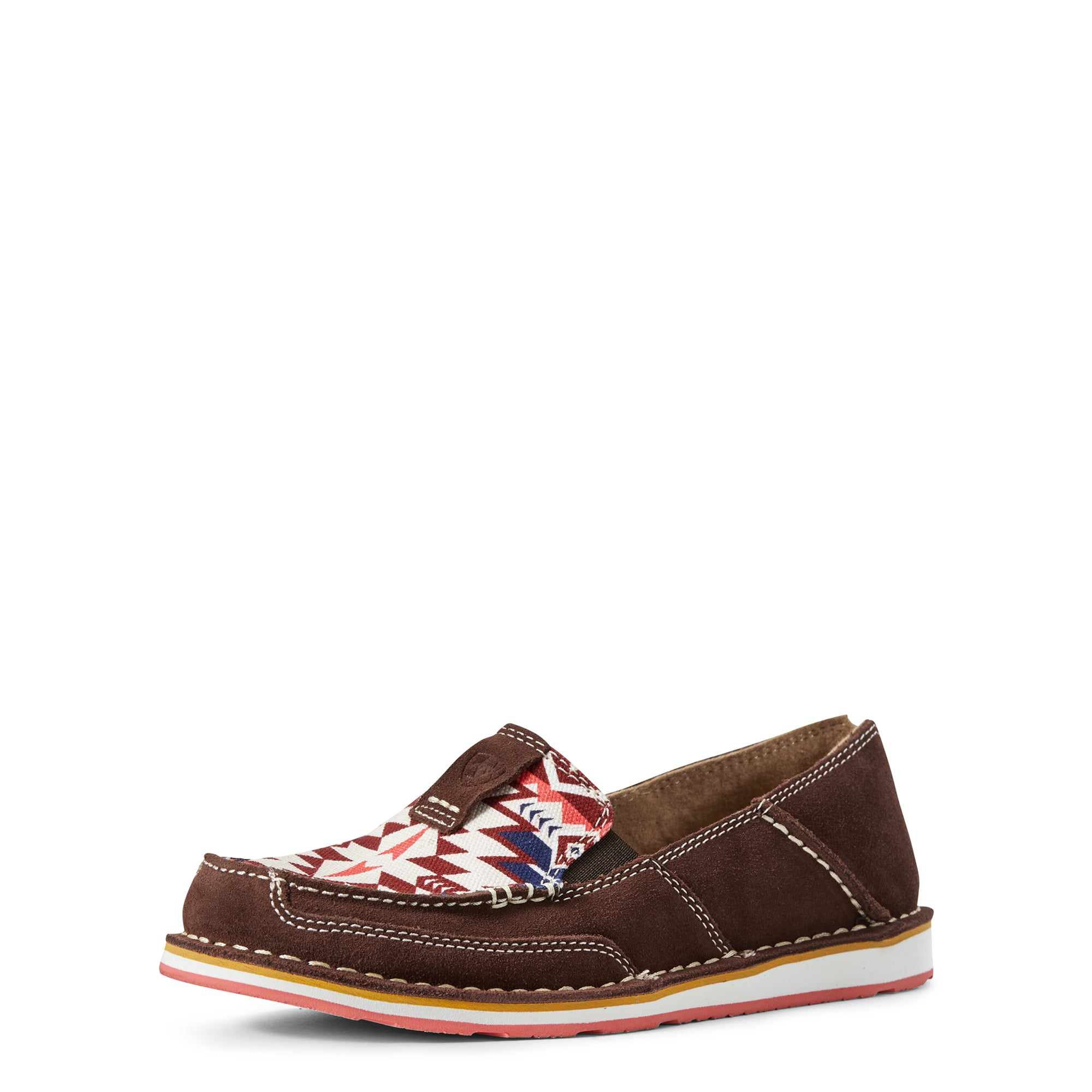 'Ariat' 10029746 - Women's Cruiser Aztec Slip On - Brown / Burgundy