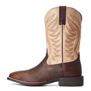 "'Ariat' Men's 11"" Amos Western Square Toe - Brown / Tan"