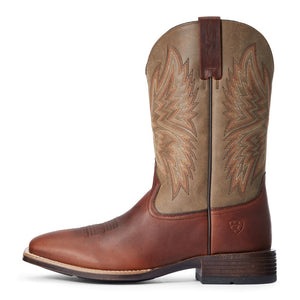"'Ariat' Men's 11"" Western Valor Ultra - Peanut / Brown Bomber"