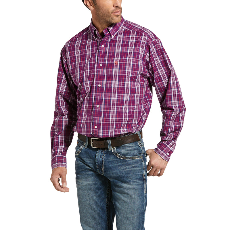 'Ariat' Men's Pro Illsley Classic Fit Button Front - Imperial Violet