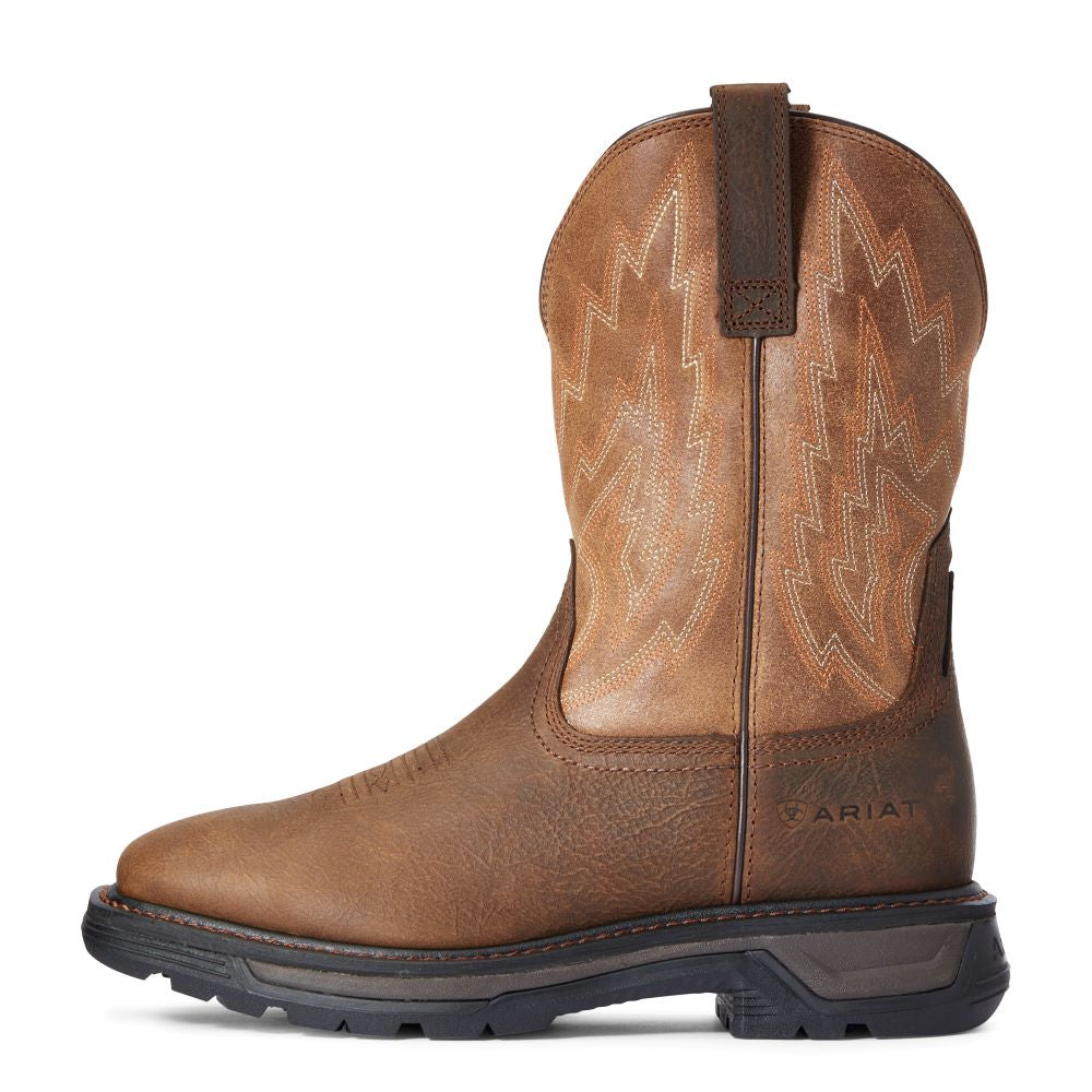 'Ariat' Men's Big Rig EH WP Soft Toe - Rye Brown