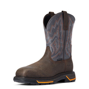 "'Ariat' Men's 11"" Western Big Rig EH Comp Toe - Iron Coffee / Slate"
