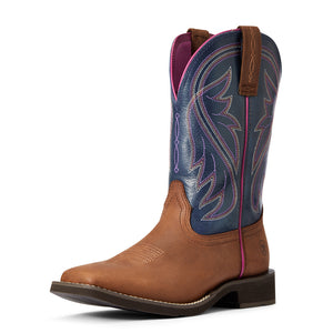 "'Ariat' Women's 10"" Azalea Western - Blue / Brown"