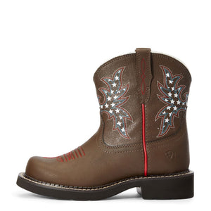 "'Ariat' Youth 6"" Cowpoke Fatbaby Western - Dark Brown"