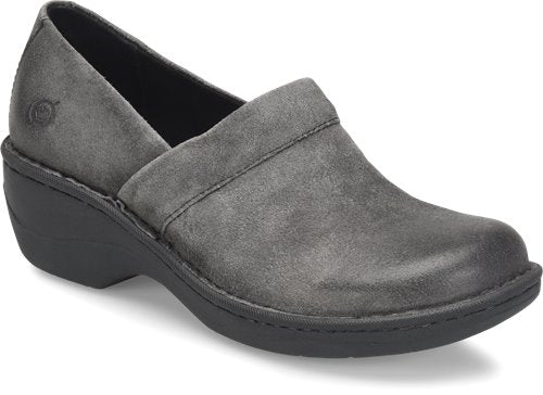 'Born' Women's Toby Duo Slip On - Grey