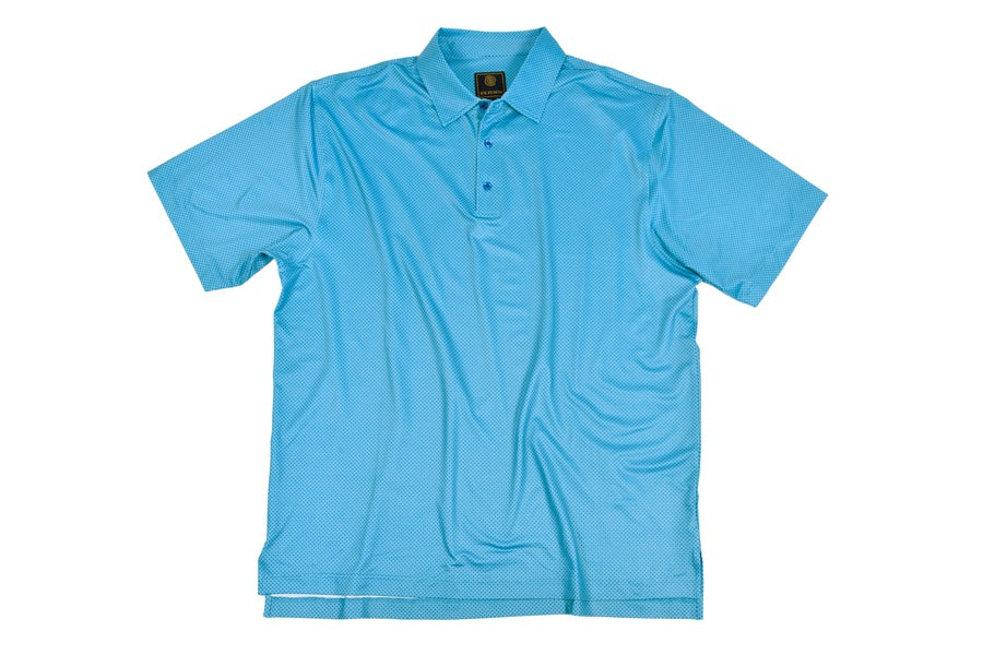 'F/X Fusion' Men's Printed Diamond Polo - Blue