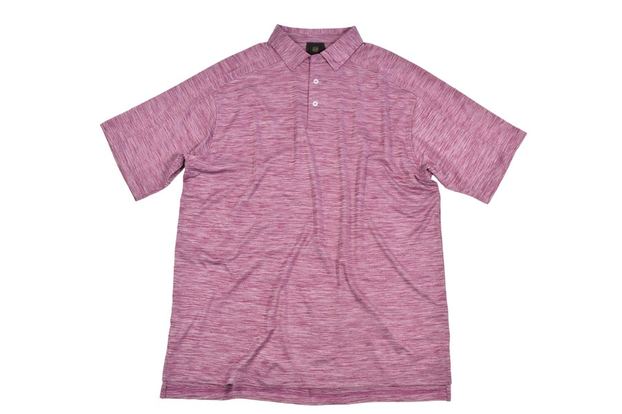 'F/X Fusion' Men's Space Dye Polo - Burgundy