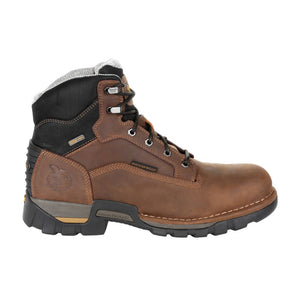 "'Georgia Boots' Men's 6"" Eagle One EH WP Steel Toe - Brown"